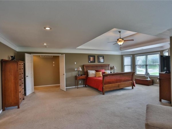 A big master bedroom at Rock Hill Subdivision, in Blue Springs, Missouri