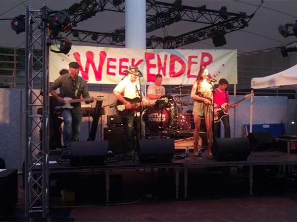 Outlaw Junkies playing at Crown Center's Summer Weekender - Live music, great food, great fun!
