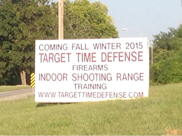 Target Time Defense opening in the fall of 2015. New indoor shooting range