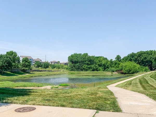 Pond and walking trail in The Hills of Montclair