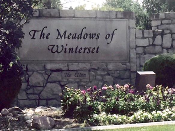 Entrance to The Meadows of Winterset