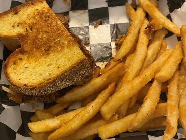 You have to try Kozaks Grilled Cheese Brisket Sandwich