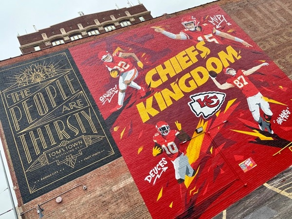 Kansas City Chiefs are headed to the Super Bowl again! One of the many murals downtown