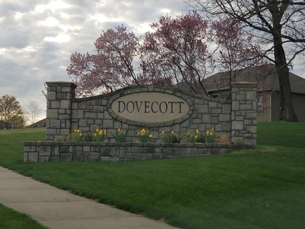 Dovecott entry signage for the subdivision