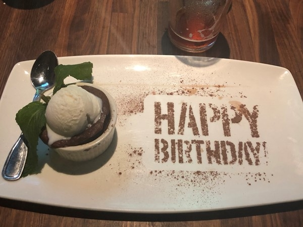 Yard House is always a favorite for a birthday celebration