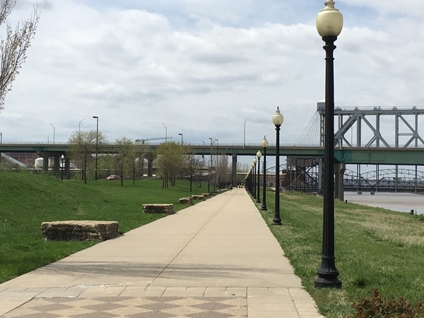 Walking trail at Berkley Riverfront Park