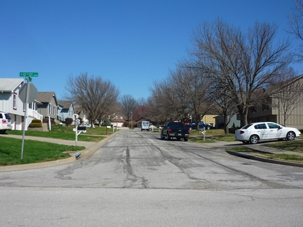 Southwest Brook Court from Southwest 12th Street in Eastman Hills looking east