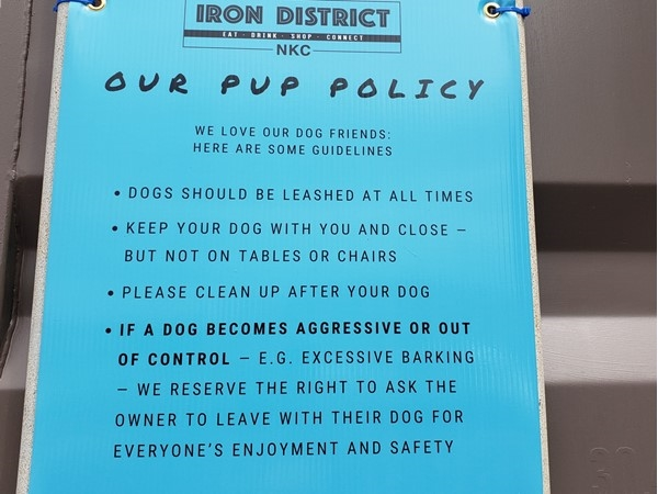 The Iron District in North Kansas City is dog friendly