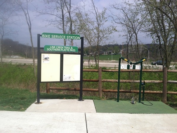 Line Creek Trail: view of the trailhead located in Platte County, MO at 68th St and Gower Rd.