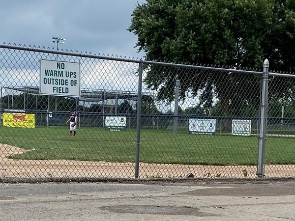 Three and two baseball park- play ball