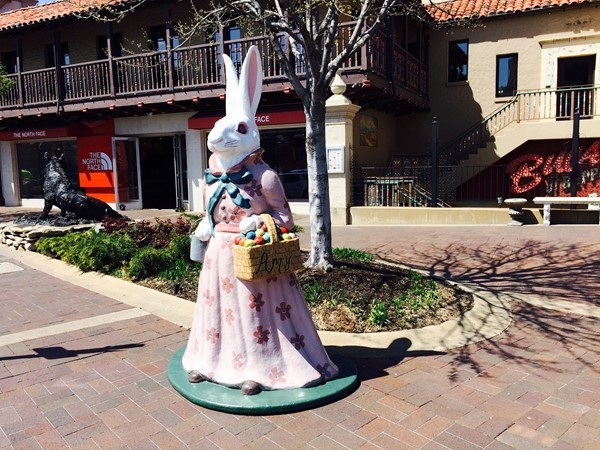 Don't miss the Plaza decorated for Easter