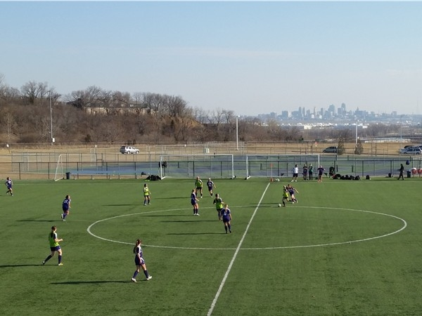 One of the most beautiful soccer fields around!  Overlooking downtown KC