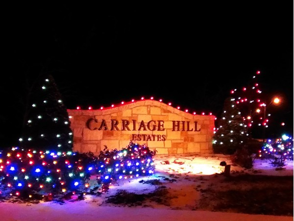 Carriage Hill Estates decorated for the season