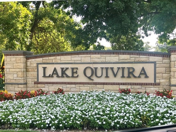 Beautiful Lake Quivira community
