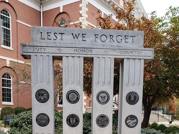Memorial honoring Veterans