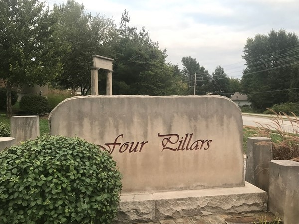 Front entrance of Four Pillars Subdivision