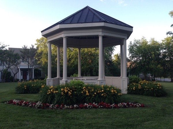 The gazebo is a central meeting place for many community activities.