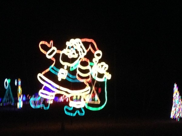 Santa was part of the Longview Lake Park light display