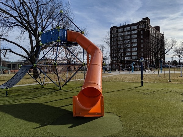 Play set at Dagg Park in North Kansas City