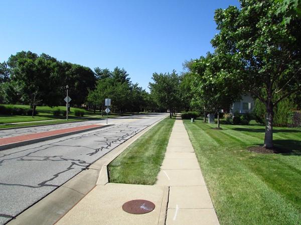 Tree lined streets with sidewalks throughout Deer Creek