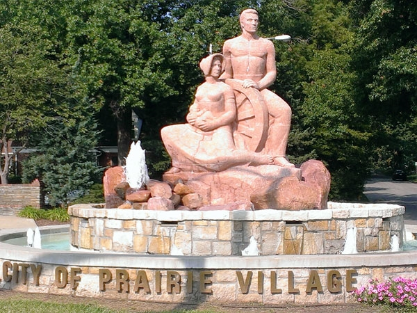 "The ""Prairie Family"" sculpture welcomes you to Prairie Village"