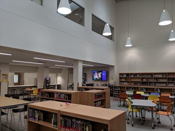 Library at North Kansas City High School