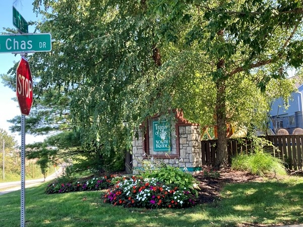 Entrance to Oaks of North Brook Subdivision