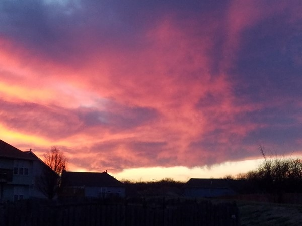An awesome sunset at Ward Park Place Subdivision