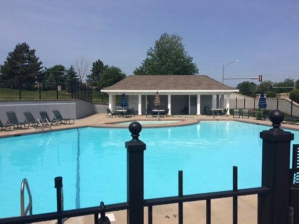Gated community pool in Birchwood Hills
