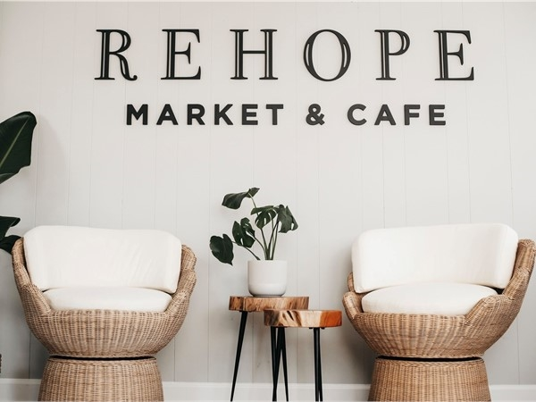 Cute setting area in the newest market, cafe and coffee shop in Greenwood. RE HOPE Market Cafe