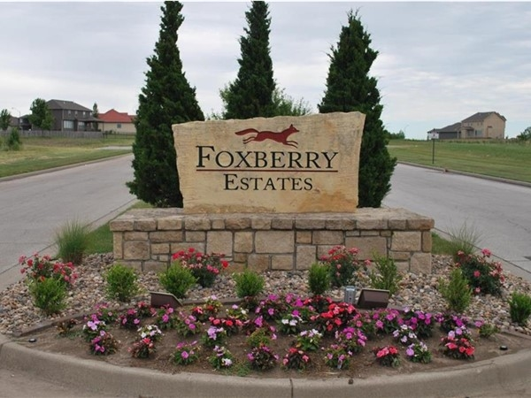 Foxberry Estates main entrance