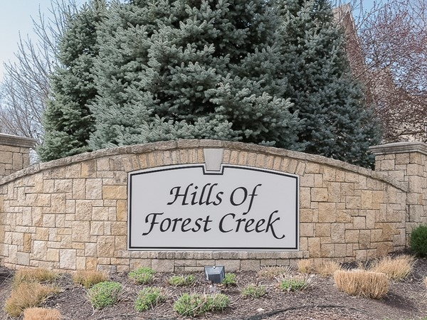 Entry monument for The Hills of Forest Creek