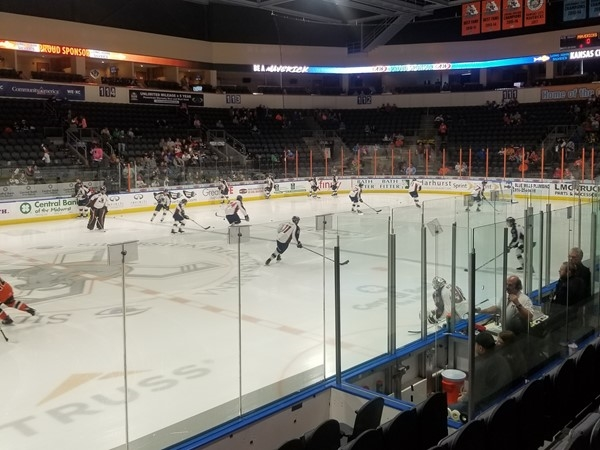 Mavericks vs Tulsa Oilers at the Independence Events Center, in East Independence