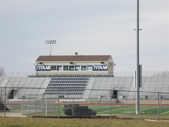 Titans Football Field at Lee's Summit West High School