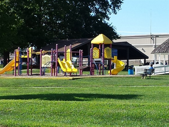 Playground in the park at the Grain Valley Community Center