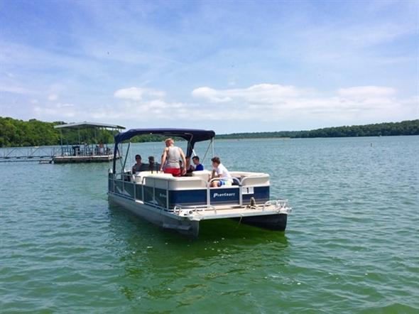 Rent a pontoon at Lake Jacomo Marina and enjoy a day on the lake