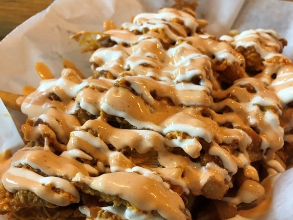 Beered Man's Kitchen Buffalo Loaded Fries