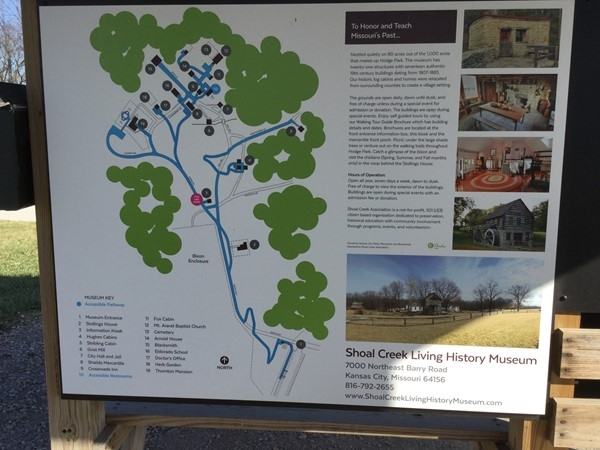 Map of the Living History Museum in Liberty