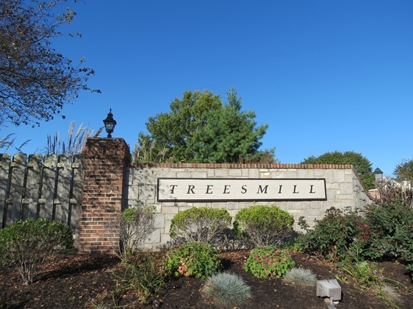 The entrance to Treesmill on Metcalf Avenue