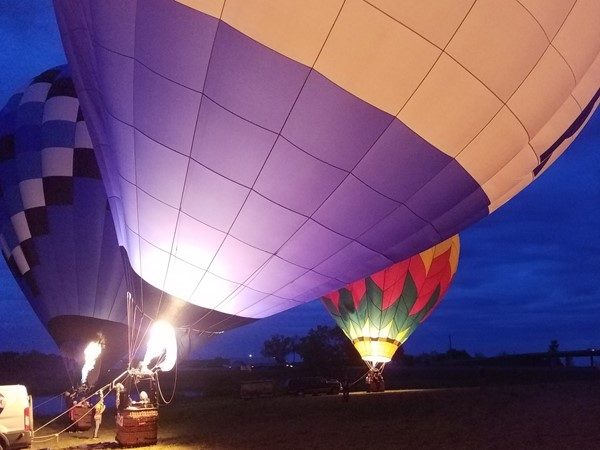 """The RE/MAX balloon is rising to the occasion for an evening """"glow"""" event"""