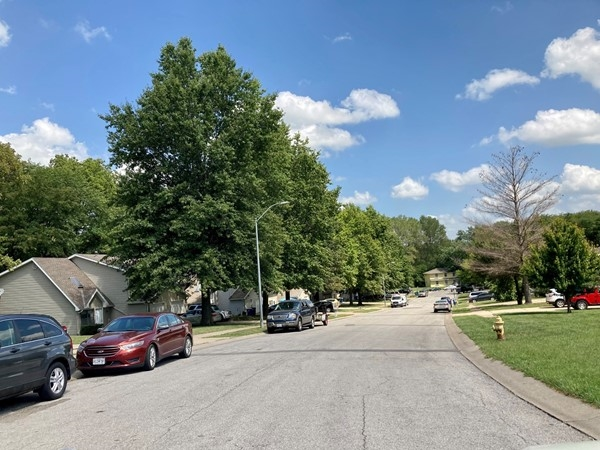 Street view of Robertson Place duplexes, Cherry St, Liberty MO