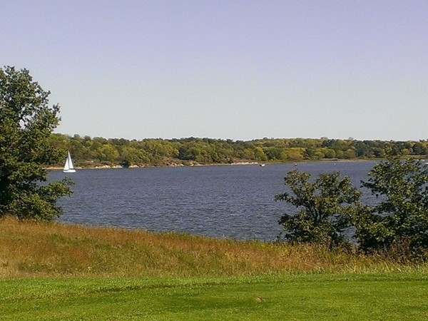 A view of the lake at Smithville Golf Course