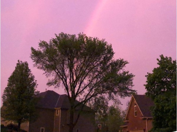 Beautiful double rainbow after all of our lovely rain