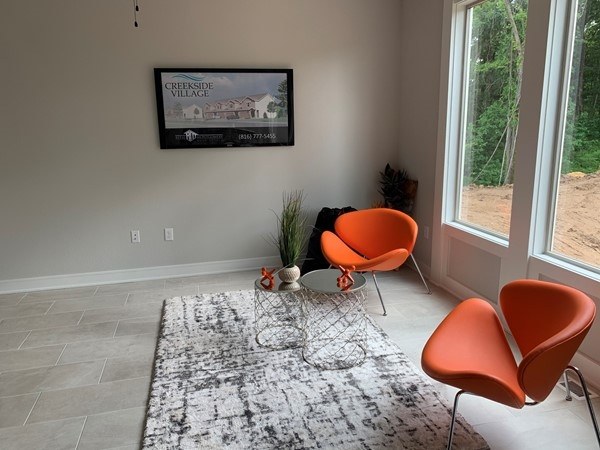 Love this pop of color in the Creekside Village Model Home