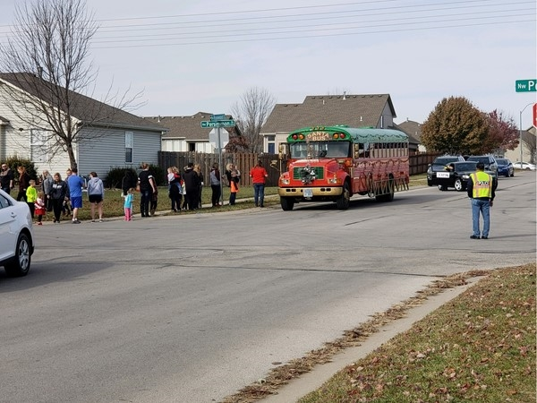 Santa's bus is making it's stops in Rosewood Hills. Don't miss him