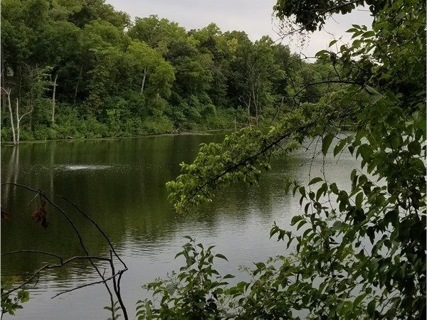 One of the peaceful lakes in Lakes at Oakmont subdivision