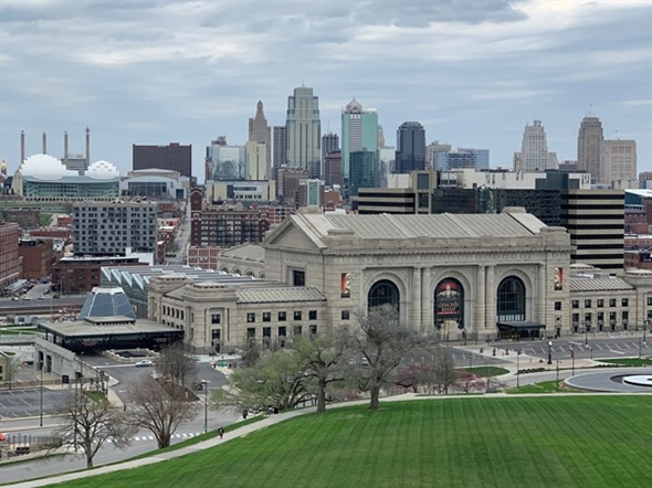 Downtown Kansas City on a cloudy yet beautiful day
