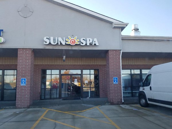 The Sun Spa is conveniently located in Platte City. Get that golden tan in December