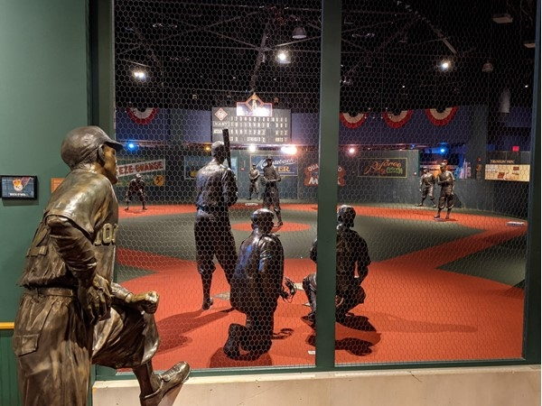 Buck O'Neil statue at the Negro Leagues Museum