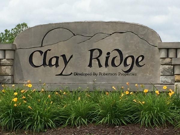 Clay Ridge Subdivision